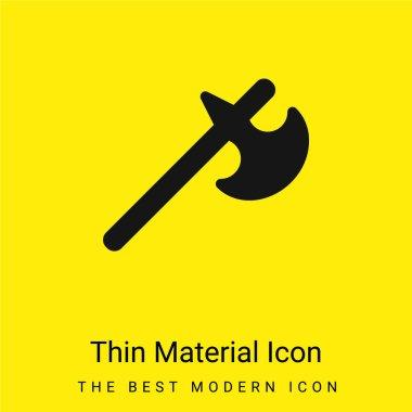 Battle Axe minimal bright yellow material icon stock vector