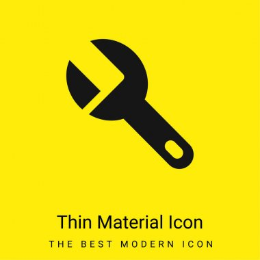 Big Wrench minimal bright yellow material icon stock vector