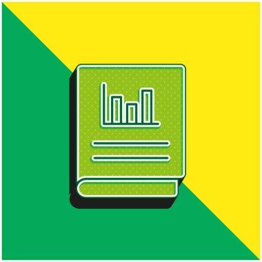 Accounts Green and yellow modern 3d vector icon logo stock vector