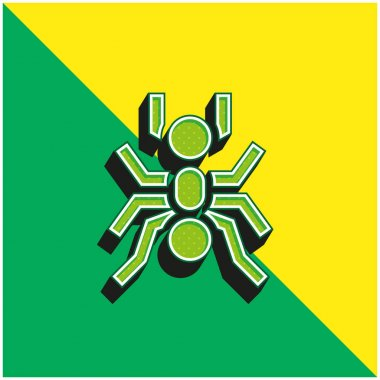 Ant Green and yellow modern 3d vector icon logo stock vector