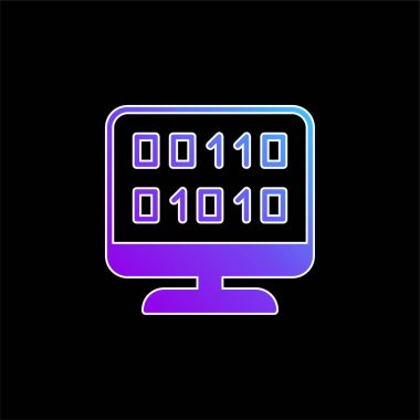 Binary Code blue gradient vector icon stock vector