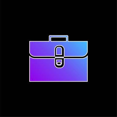 Briefcase blue gradient vector icon