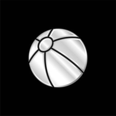 Plaj topu gümüş kaplama metalik simge