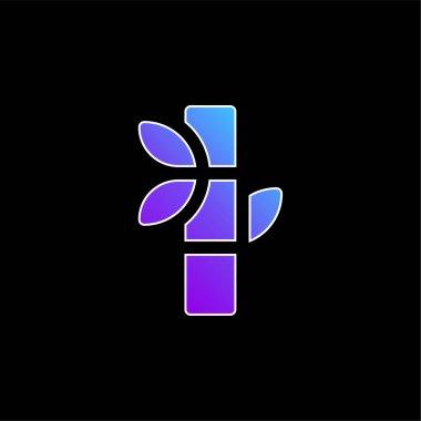 Bamboo blue gradient vector icon stock vector