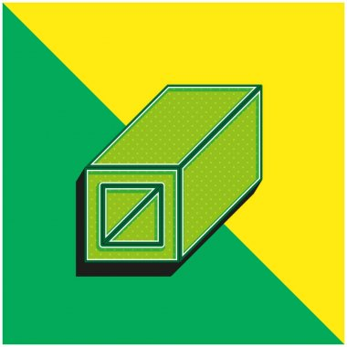 Beam Green and yellow modern 3d vector icon logo