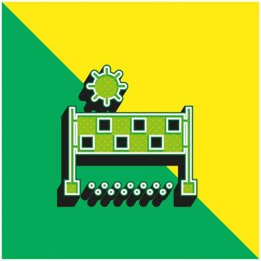 Beach Volleyball Green and yellow modern 3d vector icon logo stock vector