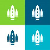 Projekt Apolo Byt čtyři barvy minimální ikona nastavena