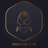 Bikini arany vonal prémium logó vagy ikon