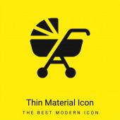 Dětský kočárek minimální jasně žlutý materiál ikona