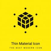 3d Nyomtatás minimális élénk sárga anyag ikon