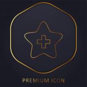 Hozzáadás a Kedvencekhez golden line prémium logó vagy ikon