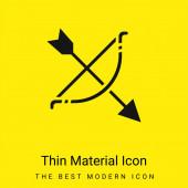 Íjászat minimális fényes sárga anyag ikon
