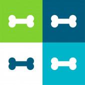 Bone Flat vier Farben minimalen Symbolsatz