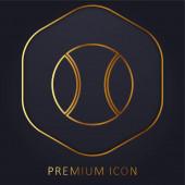 Big Tennis Ball zlatá čára prémie logo nebo ikona