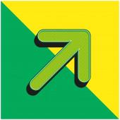 Šipka Zelená a žlutá moderní 3D vektorové logo ikony