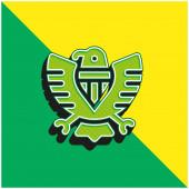 Amerikai zöld és sárga modern 3D vektor ikon logó