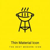 Gril Gril minimální jasně žlutý materiál ikona