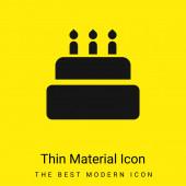 Birthday Cake minimal bright yellow material icon
