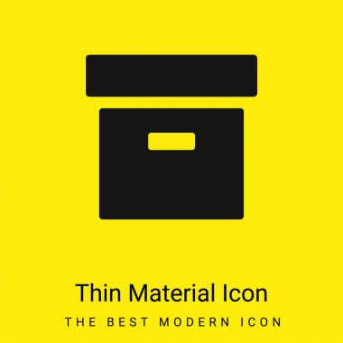 Archive Filled Box minimal bright yellow material icon stock vector