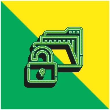 Access Green and yellow modern 3d vector icon logo stock vector