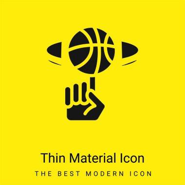Ball minimal bright yellow material icon stock vector