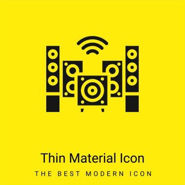 Audio minimal bright yellow material icon stock vector