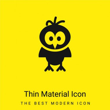 Bird minimal bright yellow material icon stock vector
