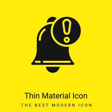Alarm minimal bright yellow material icon stock vector