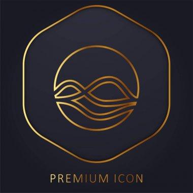 Assistant golden line premium logo or icon stock vector