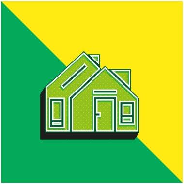 Address Green and yellow modern 3d vector icon logo stock vector