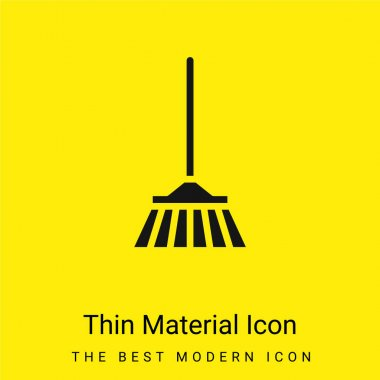 Bloom minimal bright yellow material icon stock vector