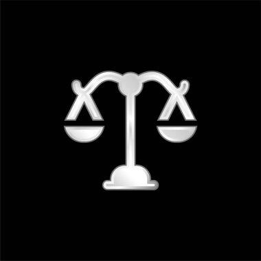 Balance silver plated metallic icon stock vector