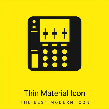 Audio Equalizer Device minimal bright yellow material icon stock vector