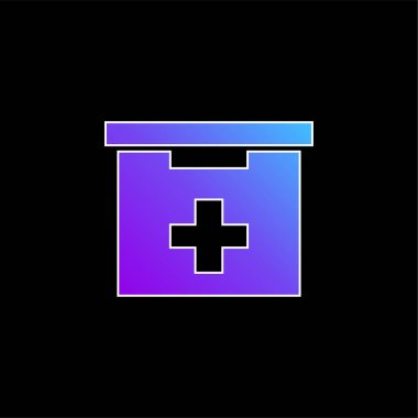 Bathroom First Aid Kit Box blue gradient vector icon stock vector