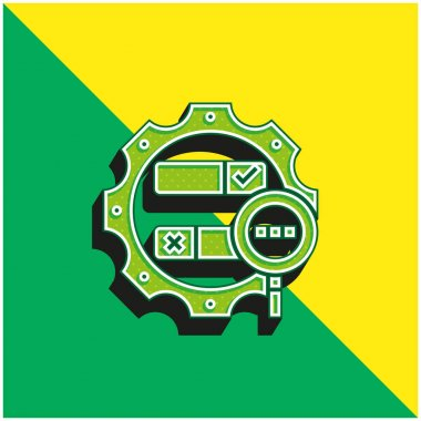 Boolean Search Green and yellow modern 3d vector icon logo stock vector
