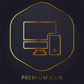 Adaptive goldene Linie Premium-Logo oder Symbol