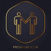 Vereinbarung goldene Linie Premium-Logo oder Symbol