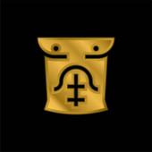 Abs vergoldet metallisches Symbol oder Logo-Vektor