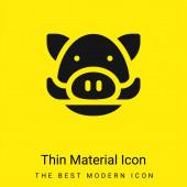 Vaddisznó minimális fényes sárga anyag ikon