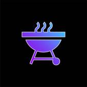 Grill kék gradiens vektor ikon