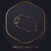 Bannerfish Silhouette goldene Linie Premium-Logo oder Symbol