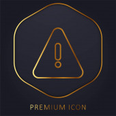 Alert golden line premium logo or icon