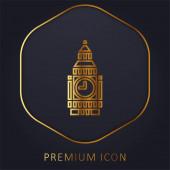 Big Ben golden line premium logo or icon