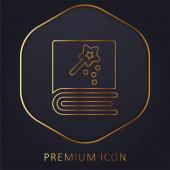 Book golden line premium logo nebo ikona