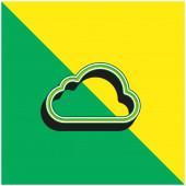 Velké Cloud Zelené a žluté moderní 3D vektorové logo