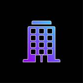 Big Building blue gradient vector icon