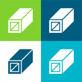 Beam Flat four color minimal icon set