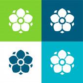 Anemone Flat négy szín minimális ikon készlet