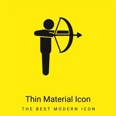 Archery minimal bright yellow material icon stock vector
