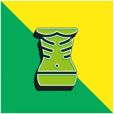 Anorexia Green and yellow modern 3d vector icon logo stock vector